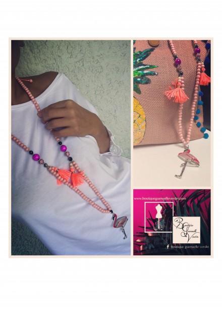 sautoir - flamand pink