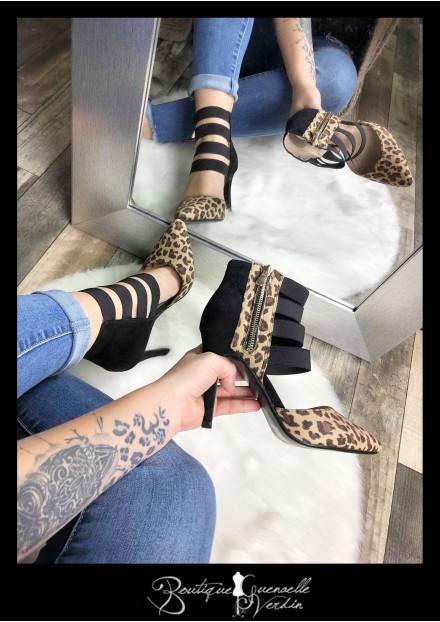 escarpins leopard